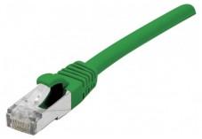 Câble RJ45 CAT6a S/FTP LSOH Snagless - Vert - (0,15m)