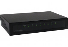 DEXLAN Switch Gigabit 8 ports métal noir