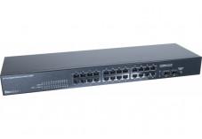 Dexlan switch 24 ports Gigabit + 2 SFP fibre optique
