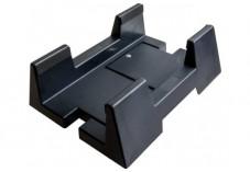 Support d'unité centrale à roulettes noir (plastique)