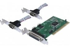 Carte PCI low profile - 2 ports DB9 + 1 port DB25