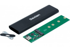DEXLAN Boîtier externe USB 3.1 Gen2 Type-C SSD M.2 NGFF SATA