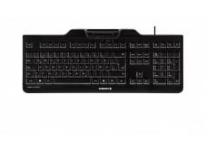 CHERRY Clavier (+cart puces) KC-1000 SC USB noir AZERTY (BE)