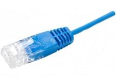 Cordon UTP 1P bleu RJ45/RJ45 Téléphone 100 ohms - 10M
