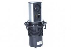BACHMANN Multiprise encastrable ELEVATOR 1 prise + 1  RJ45 + 1 HDMI