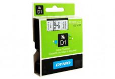 DYMO Ruban D1 - 12 mm noir sur blanc