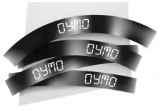 Ruban 12MM blanc sur noir pour LP150/250-LM350/450/200/250