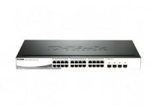D-LINK Switch 24 x 10/100/1000 PoE + 2 x SFP - DGS-1210-24P