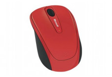 MICROSOFT Wireless Mobile Mouse 3500 Optique - Rouge Flamme