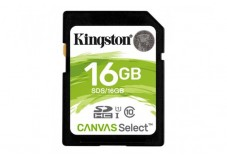 Carte SDHC Kingston Canvas Select - 16 Go - Classe 10/UHS-I