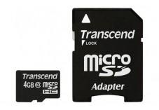TRANSCEND Carte MicroSDHC Class 10 - 4Go