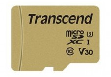 TRANSCEND Carte micro SDHC UHS I 500S Class 10 8 Go adaptateur SD inclus