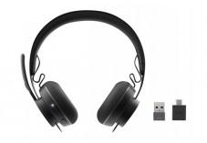 Logitech UC Zone Wireless - Micro-casque - sur-oreille - Bluetooth - sans fil -
