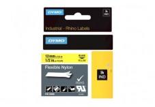 Ruban étiquette Dymo - Nylon Jaune 12 mm