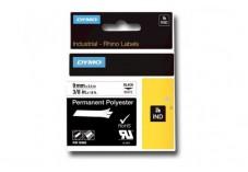 Ruban étiquette Dymo - Polyester Blanc 9 mm