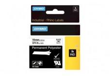 Ruban étiquette Dymo - Polyester Blanc 19mm