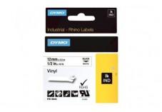 Ruban vinyle pour RhinoPro - Noir sur Blanc 12 mm