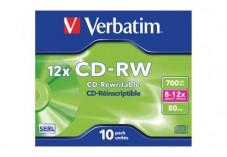 Pack de 10 cd-rw 4x-10x 700MO verbatim