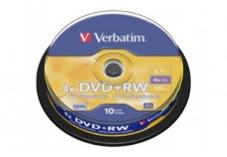 Spindle 10 dvd+rw reinscriptible 4.7Go,4x verbatim
