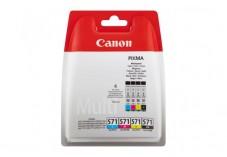 Cartouche CANON 0386C005 CLI-571 - Noir + 3 couleurs