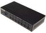Hub USB 3.0 industriel 7 ports (boîtier métal)