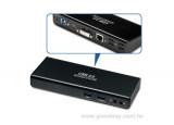 Station d'accueil USB 3.0 Double écran HDMI - DVI - LAN - Hub 6 ports