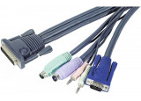 Aten 2L-170xP Cordon KVM VGA/PS2 + audio - 1.80m