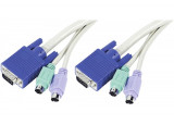 Cordon combiné KVM PS2/VGA MALE/MALE type C1 - 3m