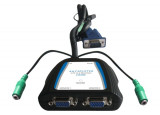 Splitter vga 450MHz 2 voies alim usb + audio 20m