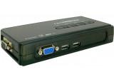 KVM switch VGA/USB 4 ports avec câbles démontables