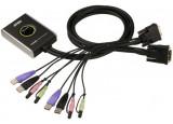 Aten CS682 switch KVM 2 ports DVI/USB/Audio Câbles intégrés
