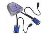 Mini KVM  2 ports VGA/USB avec câbles intégrés
