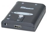 Mini switch KVM HDMI 4K /USB/Audio 2 ports avec cables 1,30m