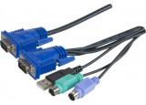 Dexlan cordon combo kvm VGA/PS2+USB - 1,8m