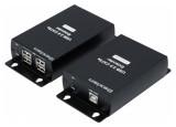 DEXLAN Prolongateur  USB 2.0 sur IP Gigabit + HUB 4 ports