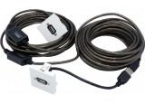 Plastron 45 x 45 avec câble USB amplifié coudé - 20 m
