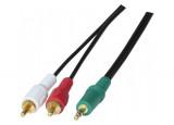 Cordon stéreo Jack 3.5 mm vers 2 x RCA PC99 - 3 m