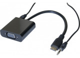 Convertisseur mini HDMI vers VGA + audio - 20CM