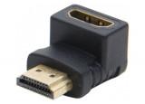 Adaptateur HDMI m/f coudé 90° or - modèle A
