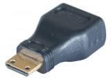 Adaptateur HDMI a fem vers mini HDMI male or