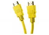 Câble HDMI HighSpeed Ethernet brassage droit - jaune 1,50m