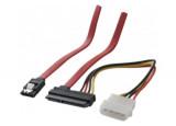 Câble SATA 2 en 1 avec alimentation Molex - 50cm