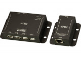ATEN UCE3250 Extendeur USB 2.0 Cat.5 50m Hub metal 4 ports