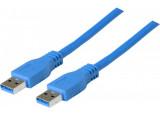 Cordon usb 3.0 a / a bleu 2,0 m