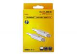 DELOCK Câble Thunderbolt M/M - 2.00m Blanc