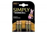 DURACELL SIMPLY PILES ALCALINE LR03 AAA BLISTER DE 4