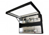 Traitement en verre renforcé anti-reflets pour caisson - 181280