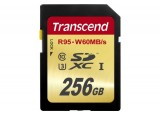TRANSCEND Carte SDXC UHS-I U3 Extreme Ecriture: 60Mb/s-256Go