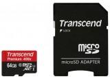 TRANSCEND Carte MicroSDXC UHS-I 400x Class 10 - 64Go