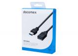 DACOMEX Rallonge USB 3.1 Gen1 Type-A - Type-A noire - 1,8 m
